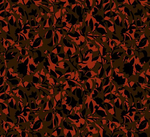 Fleurs Luna 2 - dusty red