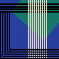 Imprimé géométrique bleu - soeur SS19