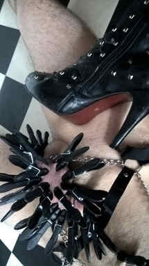 CBT with Studded Boots