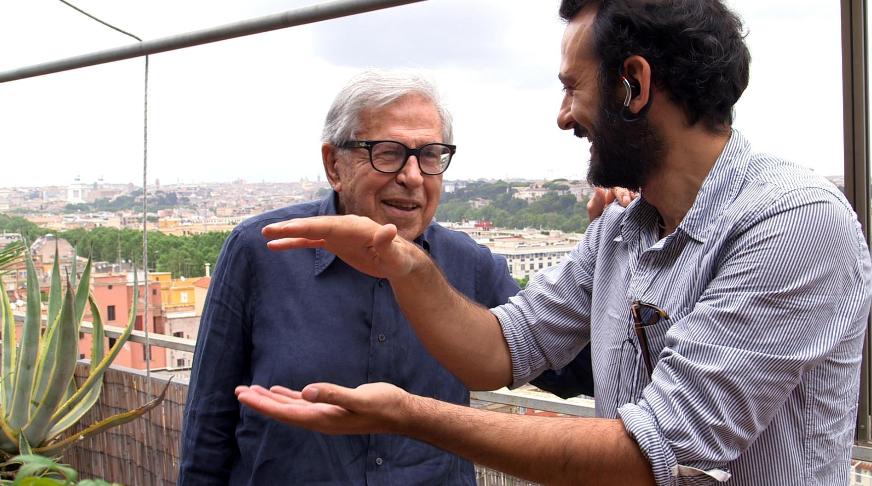 Simone Aleandri con Paolo Taviani
