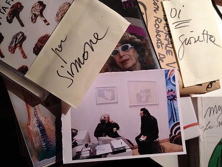 Foto di Simone Aleandri con Giosetta Fioroni