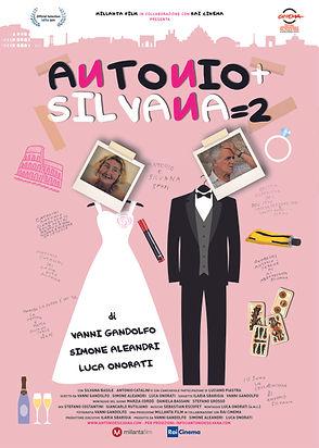 Locandina di Antonio + Silvana = 2, film documentario per la regia di Simone Aleandri, Vanni Gandolfo e Luca Onorati
