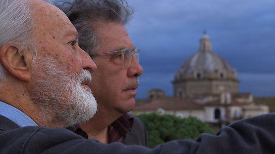 Eugenio Scalfari in una scena di grand'Italia, film documentario per la regia di Simone Aleandri