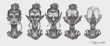 Vampire Concept Busts