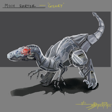 """Geary"" the Mechanical Raptor"