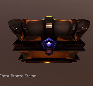 Turntable of Stylized Treasure Chest
