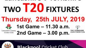 Lancashire v Yorkshire T20's