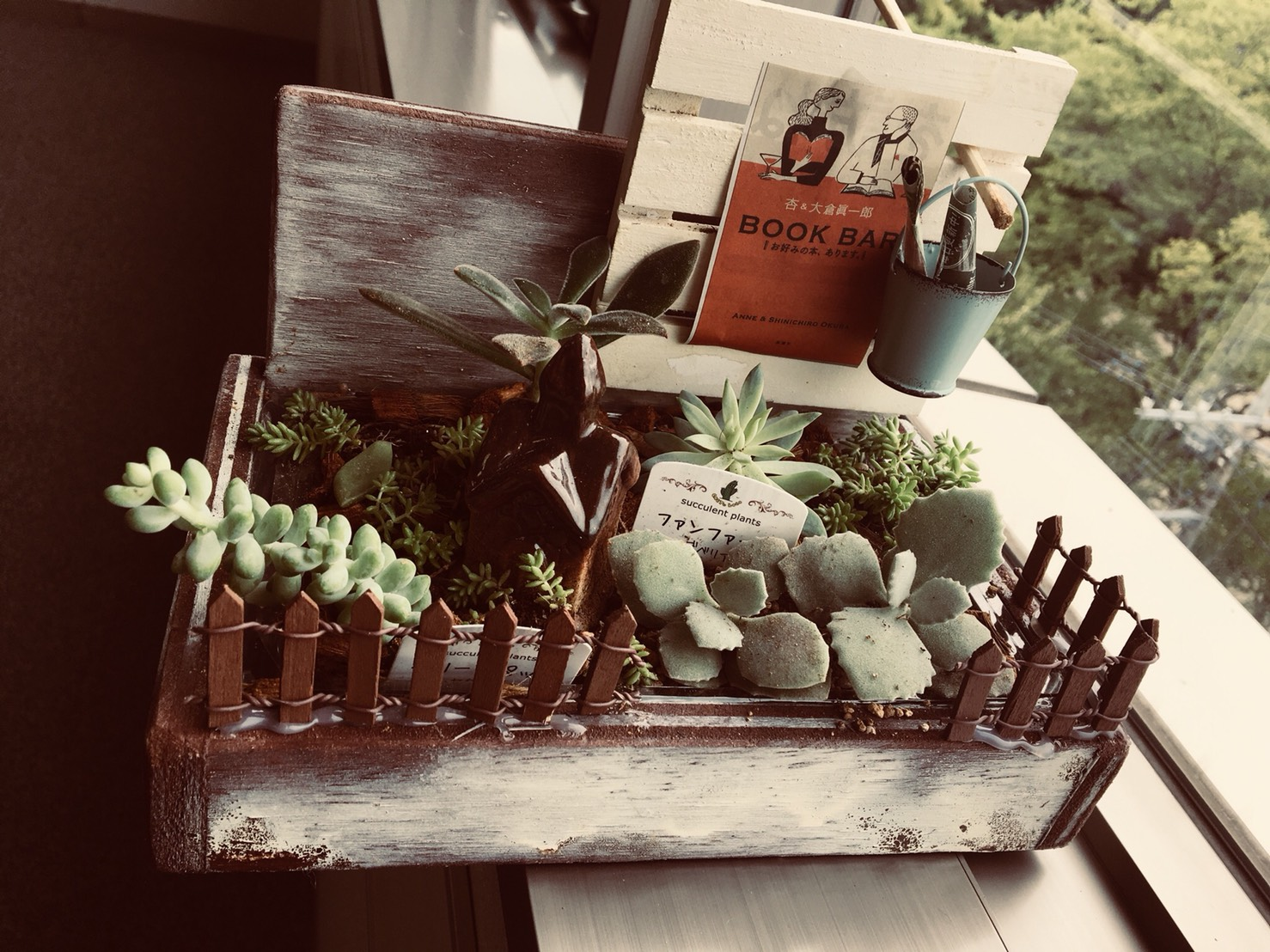 植物とクラフト遊び作品