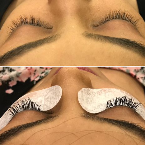 Before - after lashes