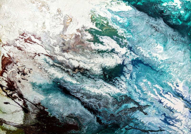 """Aerial"" painting by Stephanie Scarlata"