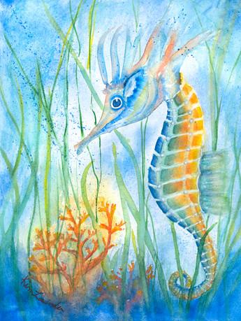 """Enchanting"" watercolor painting by Kim Lavinder"