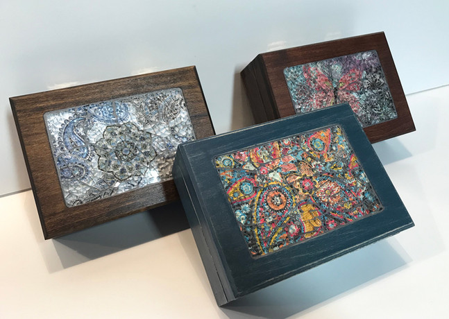 Mosaic works by Gisele Hennessey