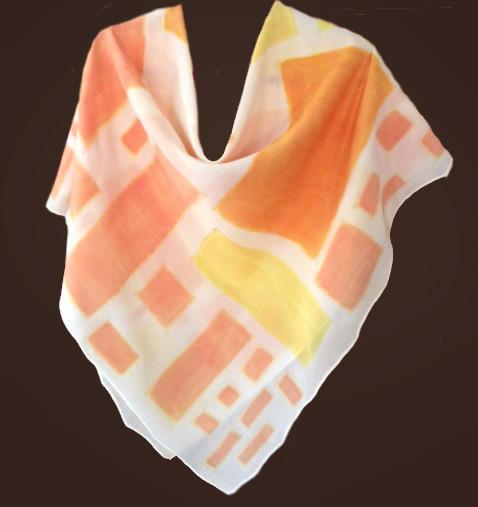 Poncho, painted silk by Lynne Gessner