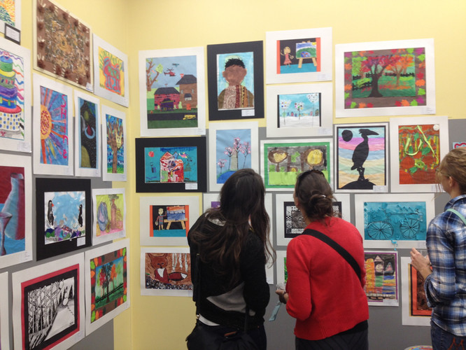 Work by local students, highlighted during one of our exhibitions