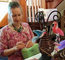 Needle felting demo by Corinna Woodard