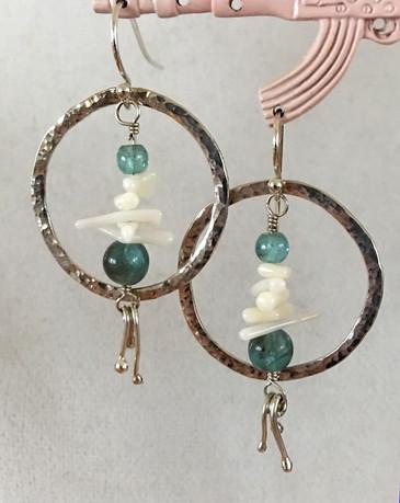 Earrings by Nancy Oliver, Belfry Arts