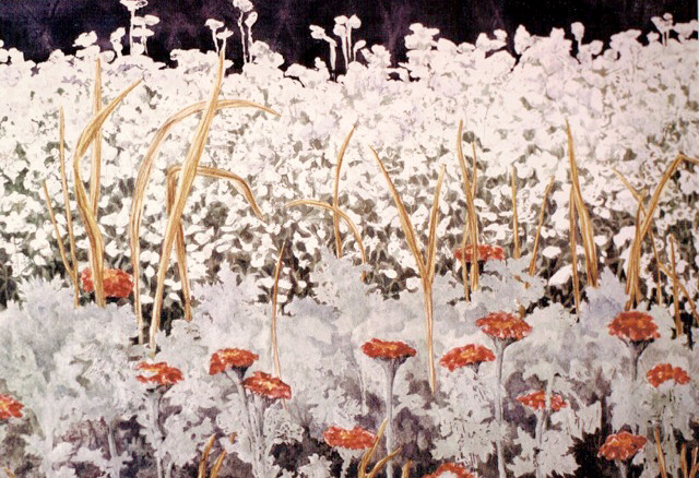 """""""Garden's Edge"""" painting by Alice Yeager"""