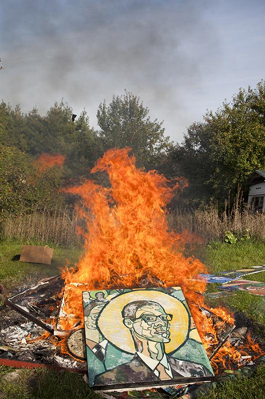 Joel's fire pile