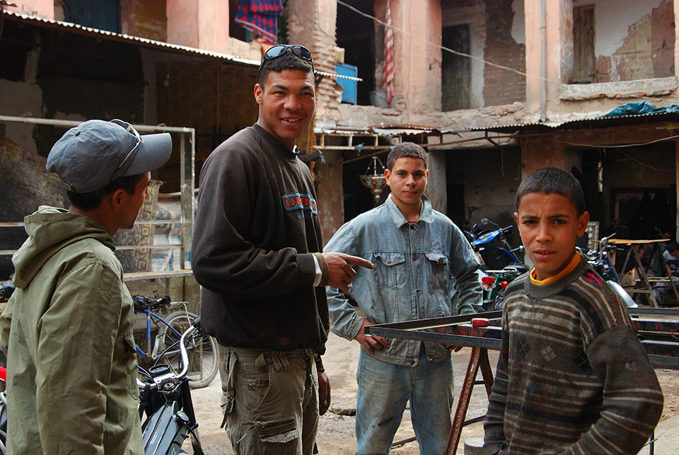 Morocco's workmen