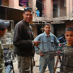 Morocco workmen