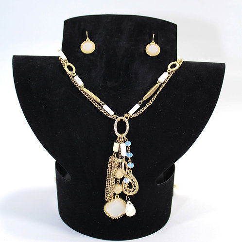 Plated Gemstone Necklace Set