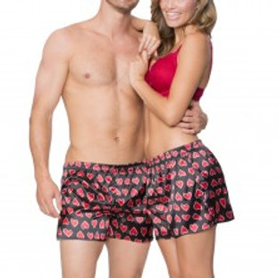 His & Her Satin Boxer Shorts