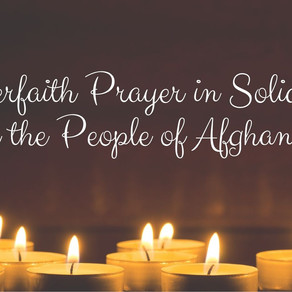 Prayer in Solidarity with the People of Afghanistan Event