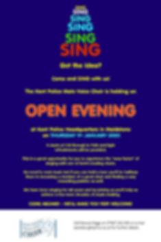 KPMVC Open Evening Poster