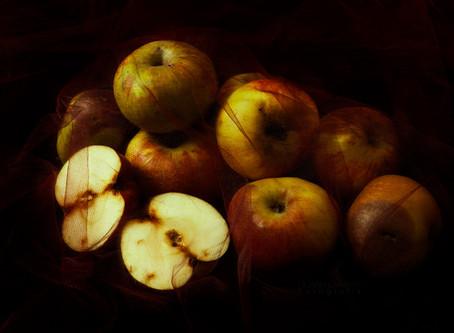 Historia de una foto. Las manzanas de la huerta.