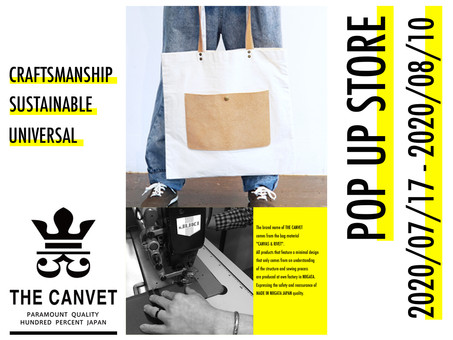 「THE CANVET」 POP UP STORE