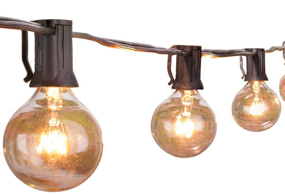 Outdoor Bistro String Globe Lights