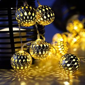 Moroccan Globe String LED Garden Lights