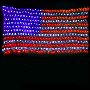 Large American Flag LED Garden Lights