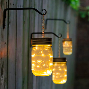 6 Pack Hanging Solar Mason Jar Garden Lights