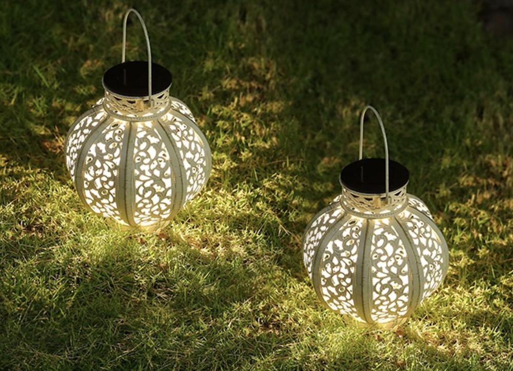 MAGGIFT Hanging LED Solar Garden Lanterns