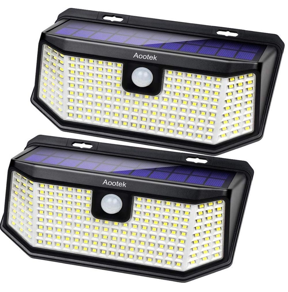 Aootek Outdoor LED Solar Motion Sensor Lights