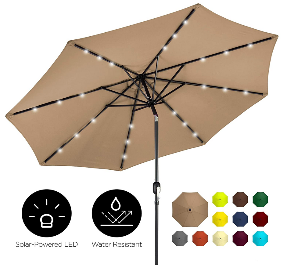 Best Choice Solar Light Patio Umbrella