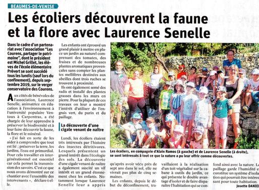 Les écoliers découvrent la faune et la fore avec Laurence Senelle