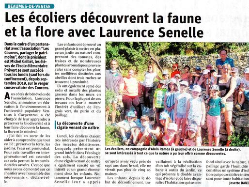 Les écoliers découvrent la faune et la flore avec Laurence Senelle