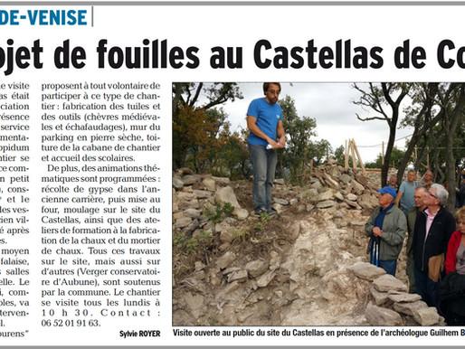 Un projet de fouilles au Castellas des Courens