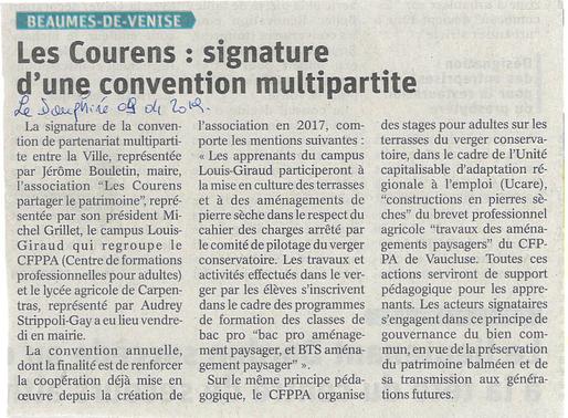 Signature d'une convention multipartite