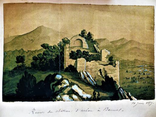 Die Burg (Castellas) - 1857 gemalt