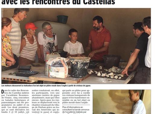 Découverte du patrimoine local avec les rencontres du Castellas