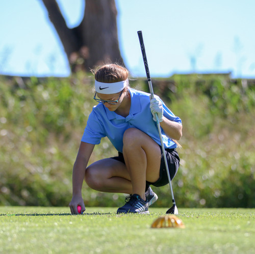 I included this photo of a golfer preparing for her competition to help show the diversity in the photos I capture. I like the composition of the photo and focus of the athlete.