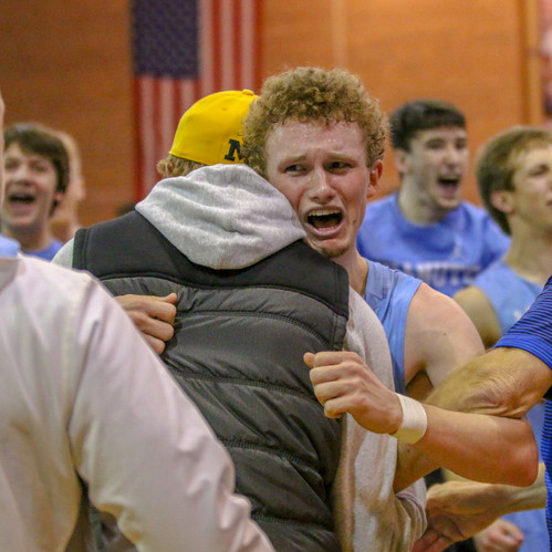 This photo was taken after Chanute upset the best team in their division to qualify for state. I was able to capture so many great photos at this game as the win was so unexpected and insane.