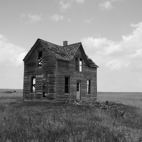 This photo of an abandoned house is one I chose to include as it tells a really interesting story. I chose to use black in white on the photo and like how the angle helps to show the whole house.