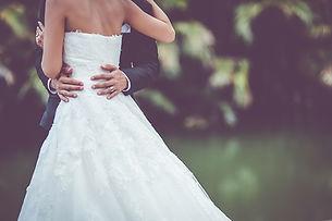 Couple at their wedding