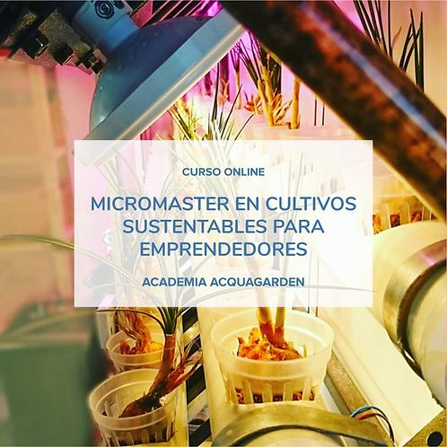 MicroMaster en Cultivos sustentables para emprendedores - Online