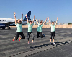 Jumping for joy at 2017 Pulling For Hope