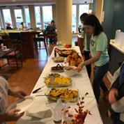 Serving dinner at Hope Lodge in Boston